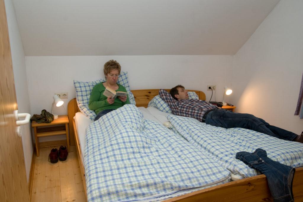 Ferienhaus Schlafzimmer Doppelbett
